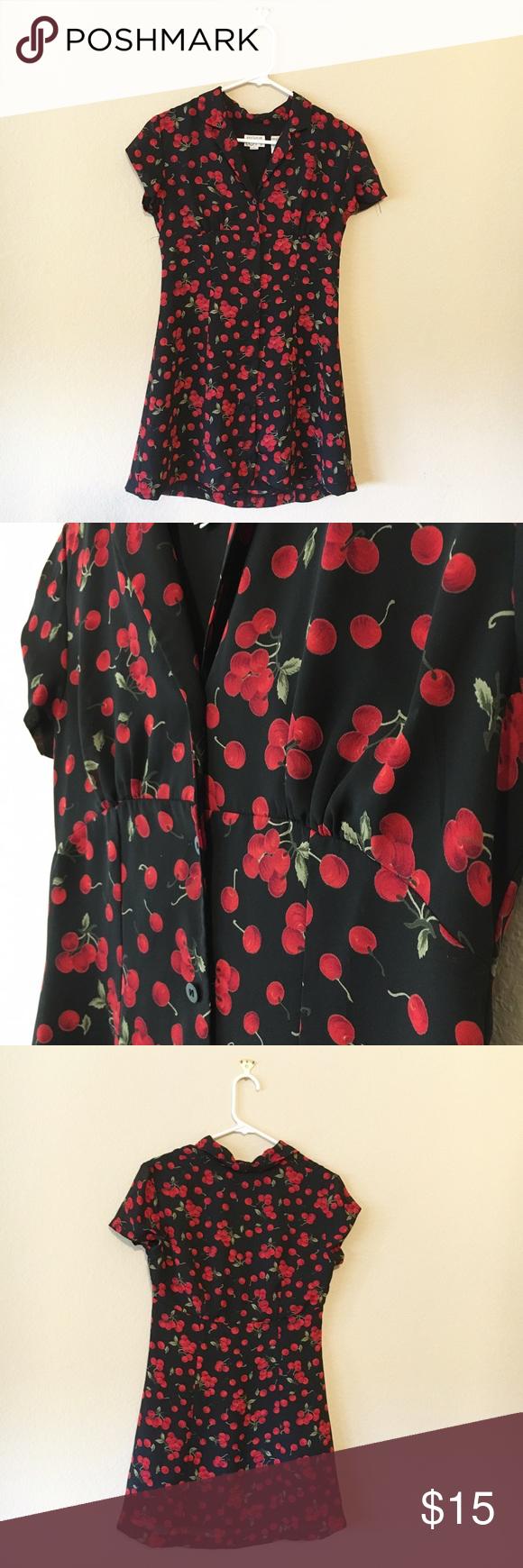 Vintage Cherry Dress Adorable vintage Ann Taylor dress! Dresses Mini