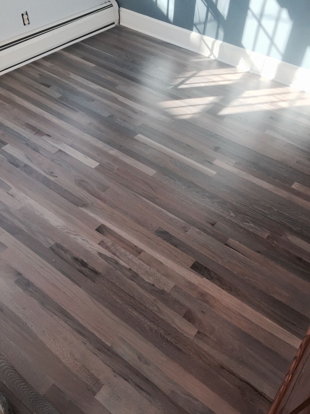 Refinished Red Oak Flooring With Rubio Fumed And 5 White Floor Oil