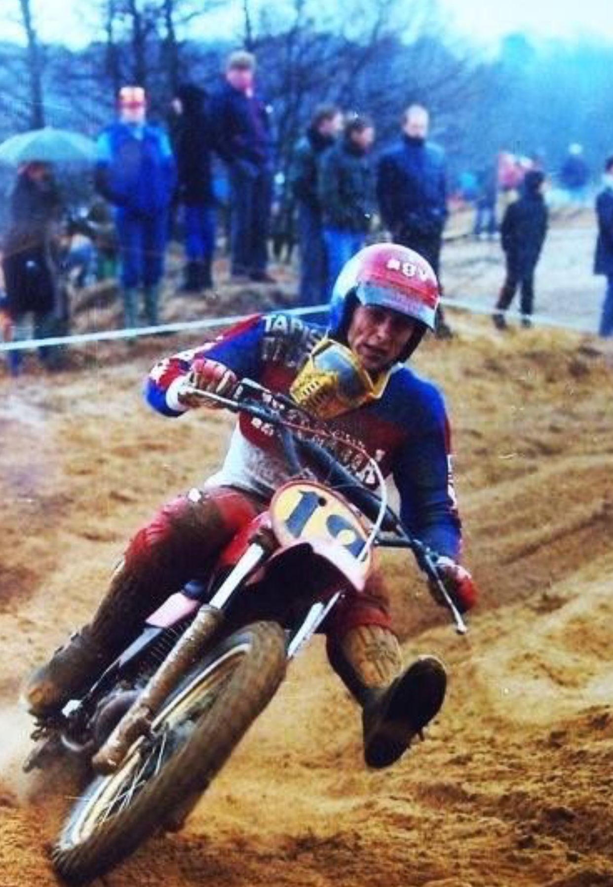 Pin By Deanzurmely On Motocross Photos In 2020 Vintage Motocross Motocross Riders Honda Dirt Bike