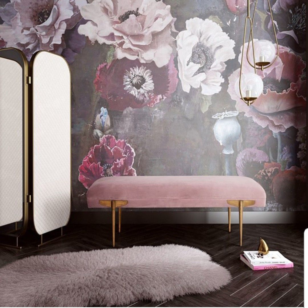 Bedroom furniture mauve go pink house design interior home decor also pin by maria liogas on bench upholstered rh pinterest