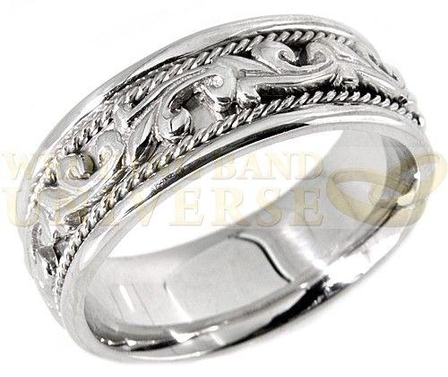 Unique Wedding Bands This Paisley Band Ring Is Crafted Out