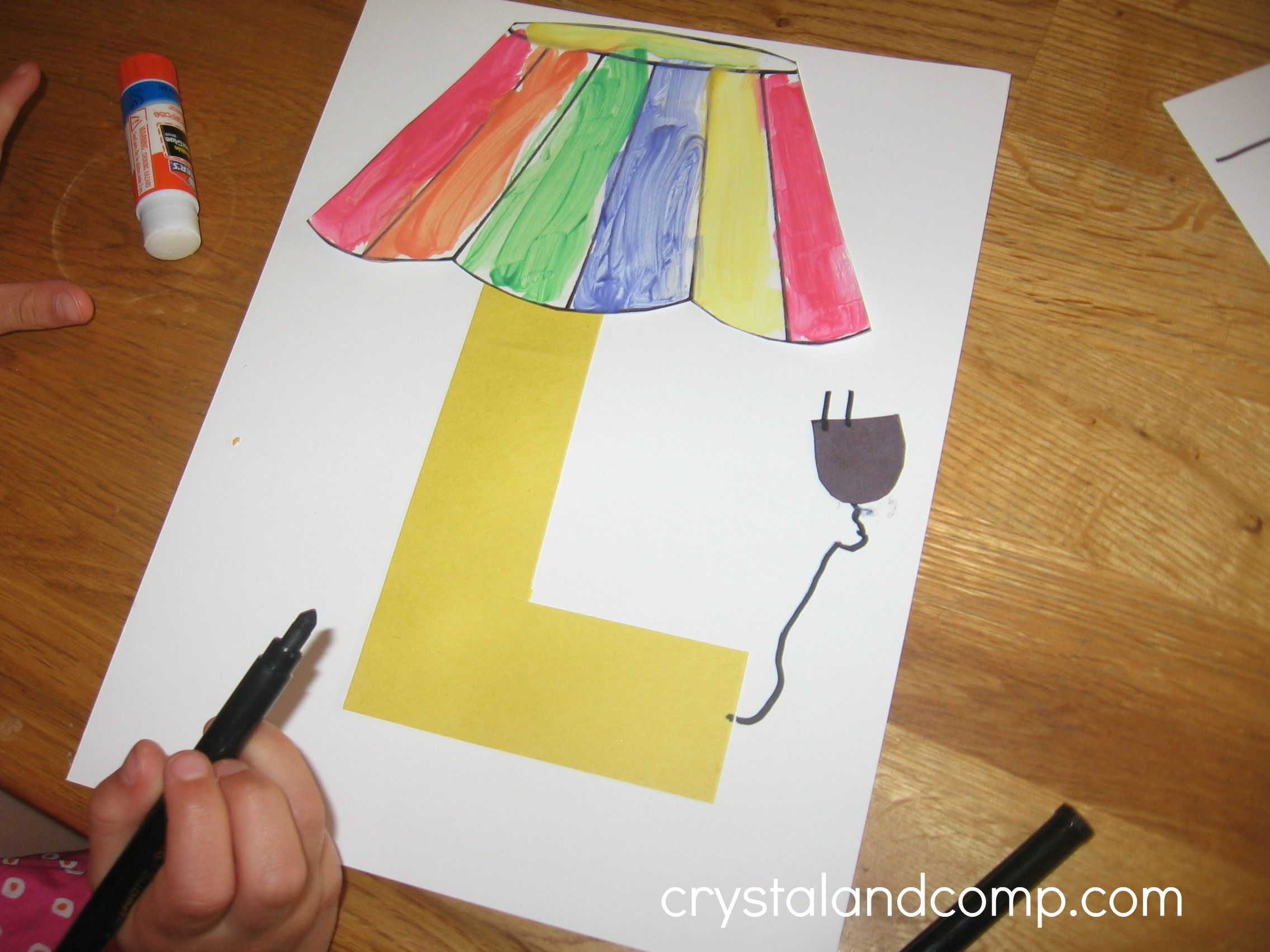 Kids Arts And Crafts Ideas Free Part - 48: L Is For Lamp: A Letter Of The Week Preschool Craft