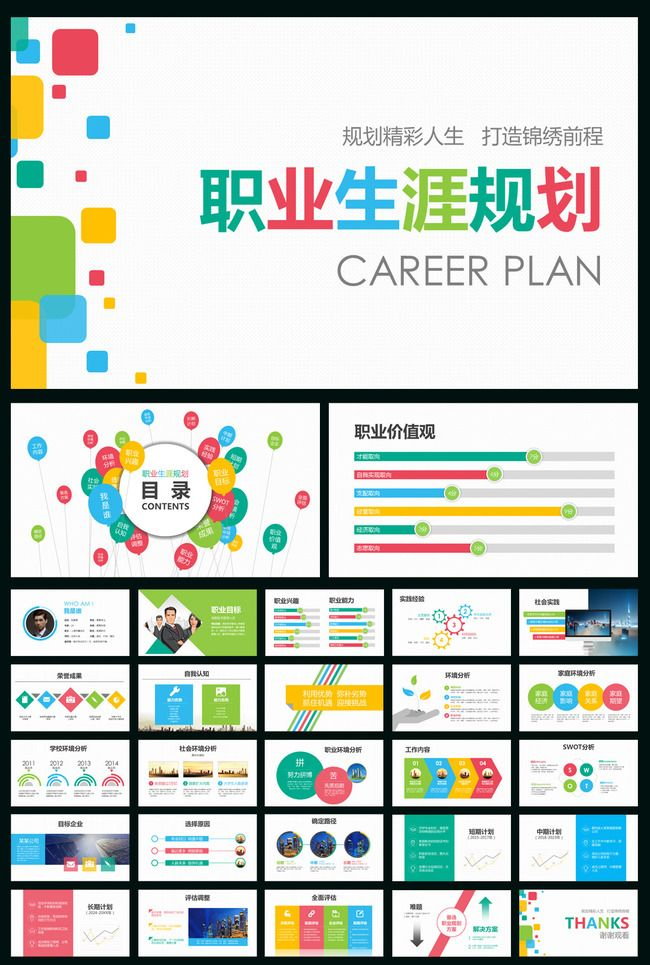 Career planning ppt templates college students resume production ppt