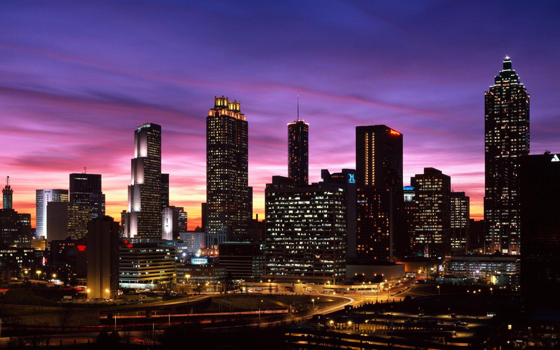 City Landscape Photography Google Search Atlanta Skyline Hotels In Atlanta Georgia Skyline
