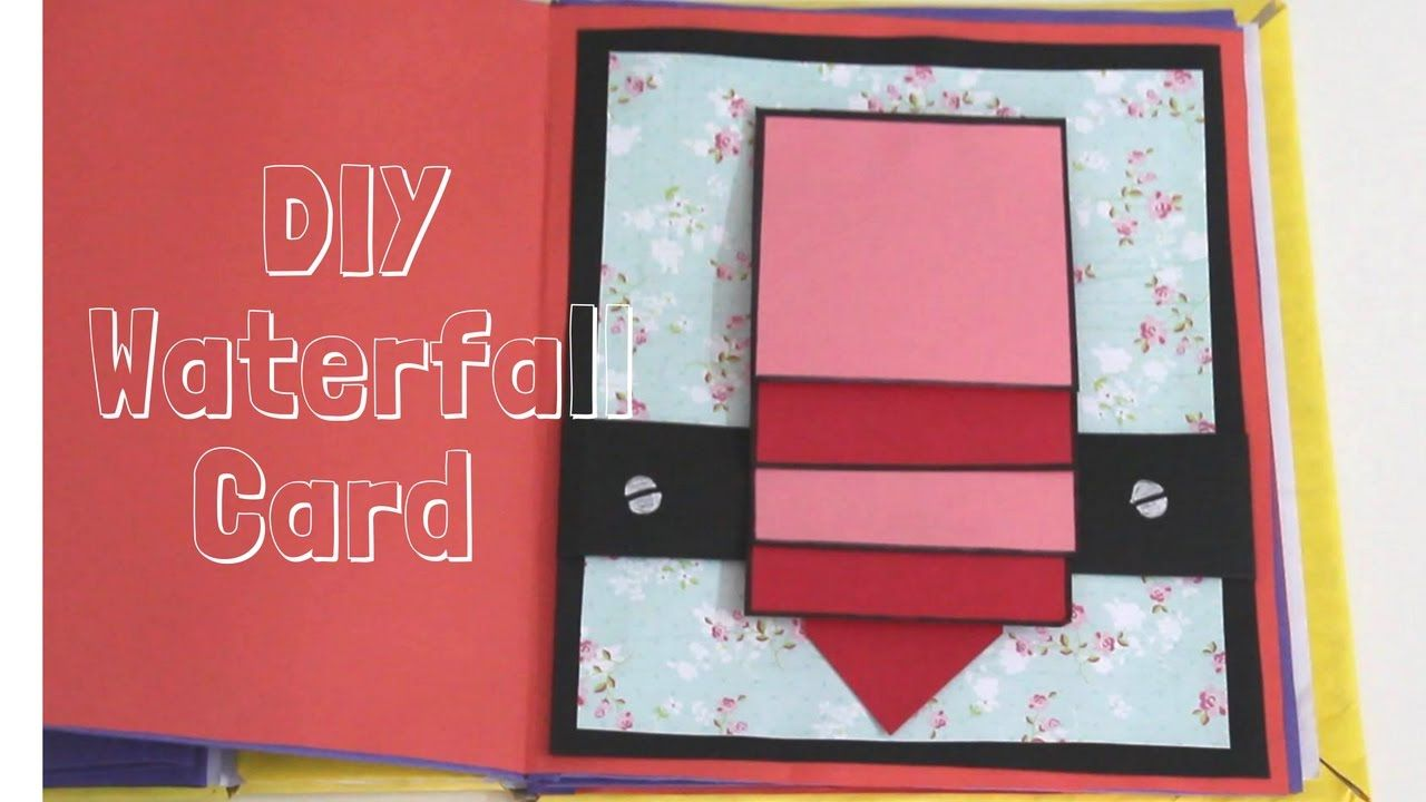 How to make - Waterfall Card (basic) | Easy and basic card ...