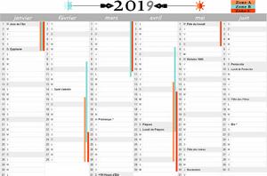 Calendrier 2019 Premier Semestre A Imprimer.Calendrier 2019 A Imprimer 1er Semestre Les Imprimables