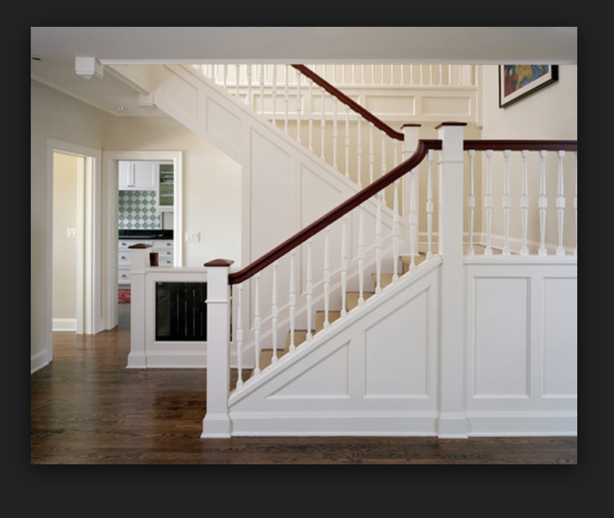 Open Side Stairs Traditional Staircase Craftsman Staircase Stairs Trim