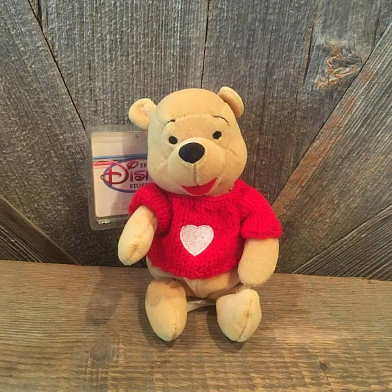 Vintage Pooh Beanie Baby The Disney Store Exclusive Stuffed Animals Toys