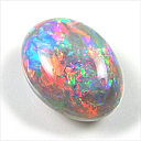 An almost edible looking 4.95 ct Australian black opal selling for $5,800 Aussie currency.