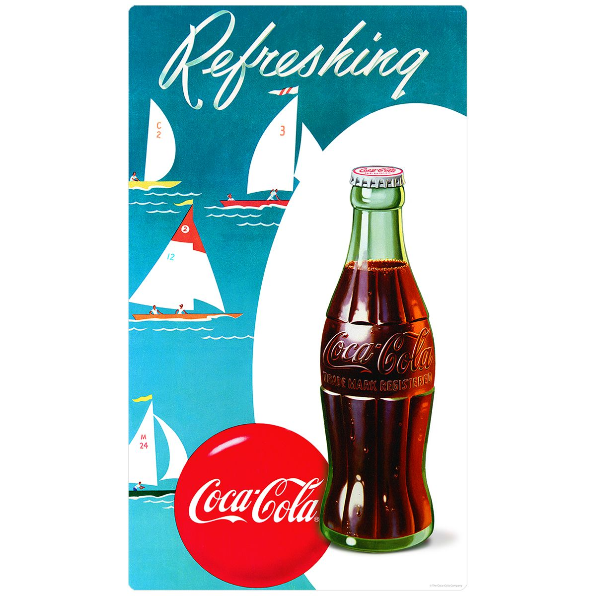 Coca-Cola Know as Coke Too Vintage Advertisement Reproduction Glossy Poster