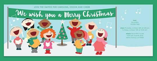 Christmas Carolers Invitation | Christmas Prep | Pinterest ...