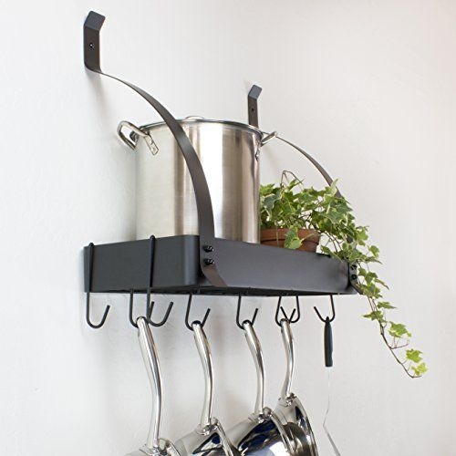 This Pot Rack By Contour Essentials Will Keep Your Kitchen Looking Neat And Keep Your Pans And Utensils Organized I Pot Rack Hanging Pot Rack Cookware Storage