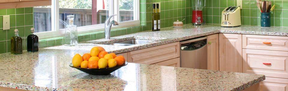 cocinas encimeras de vidrio reciclado para la cocina madrid