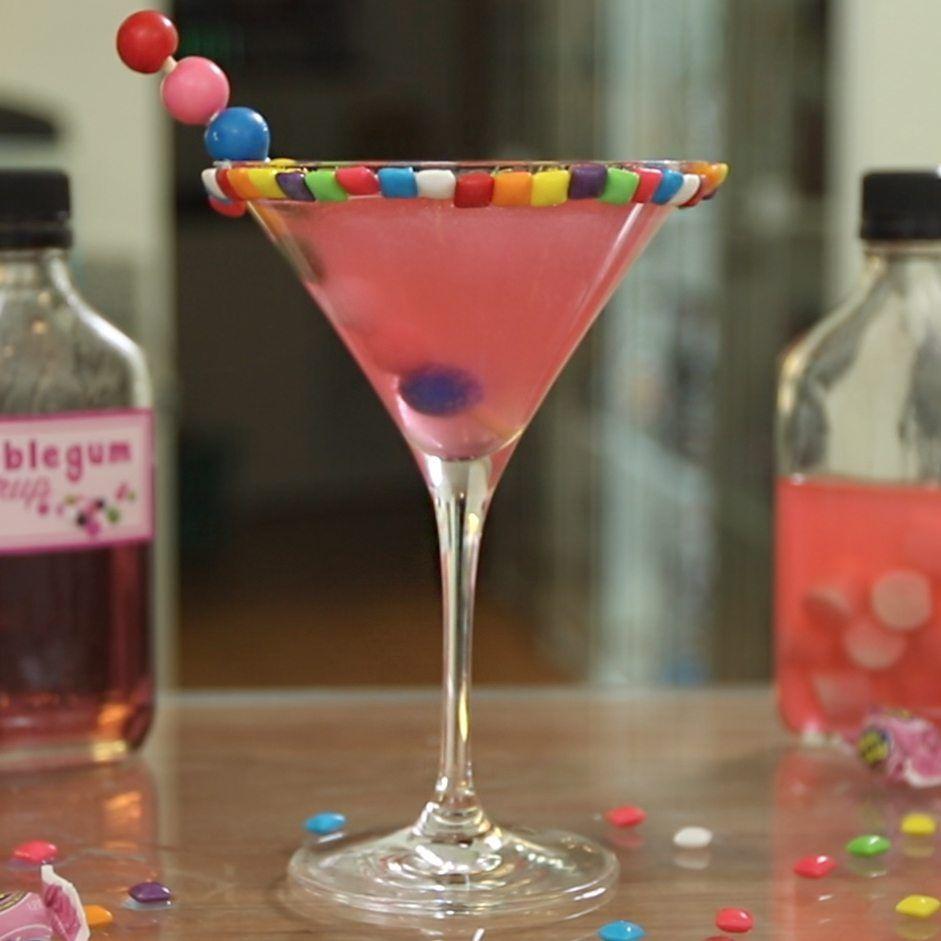 Bubblegum Martini Tipsy Bartender Recipe Martini Recipes Classic Candy Cocktails Martini