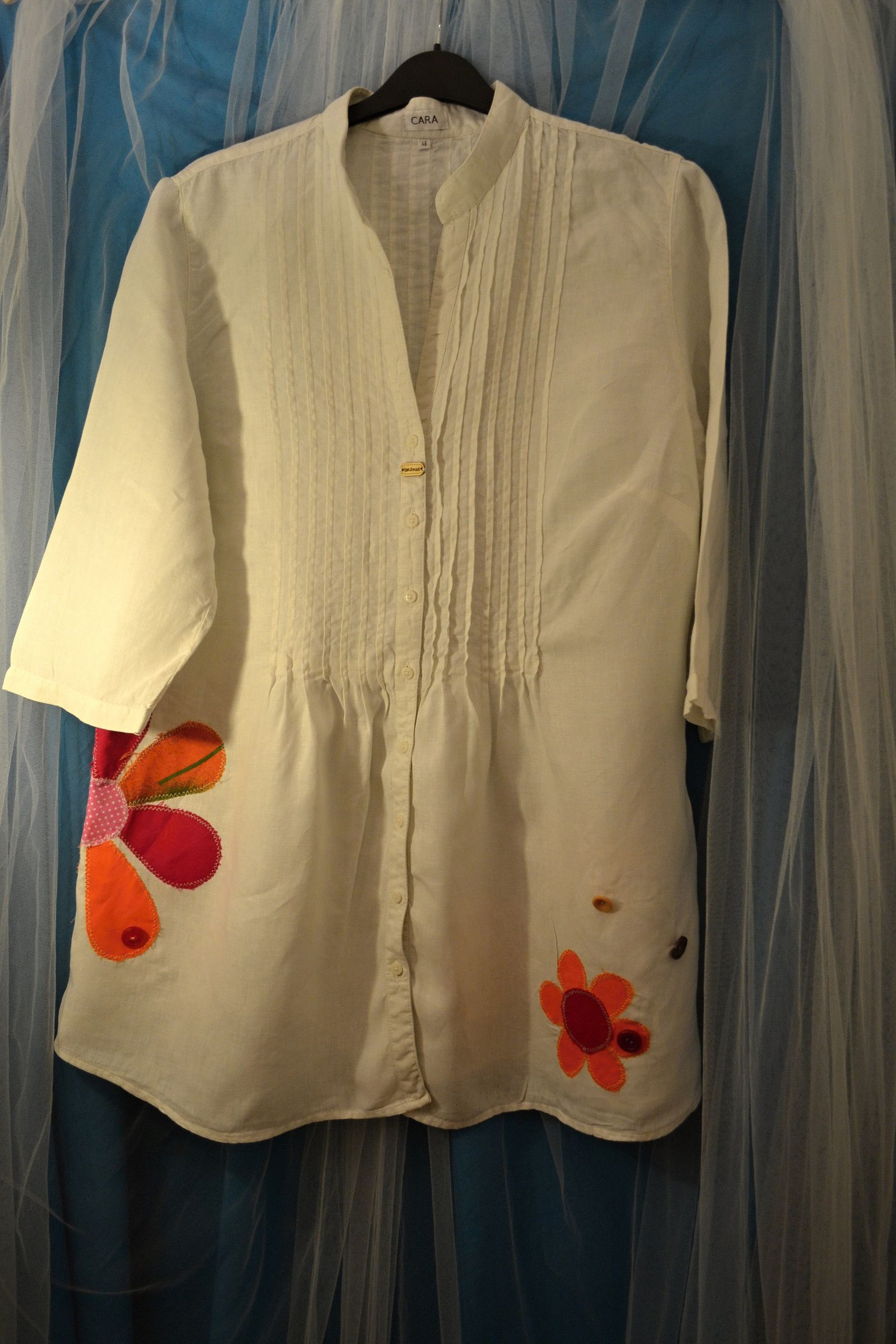 Čistě+bílá+lněná+recy+košile+Malířka+vel.46+Krásná+lněná+košile+Cara ... ca4f411686