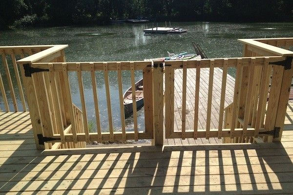 Double Wood Deck Gate In Mchenry County Built By Rock