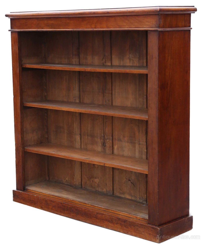 Victorian Adjustable Mahogany Open Bookcase Antiques Atlas In 2020 Open Bookcase Bookcase Storage Spaces