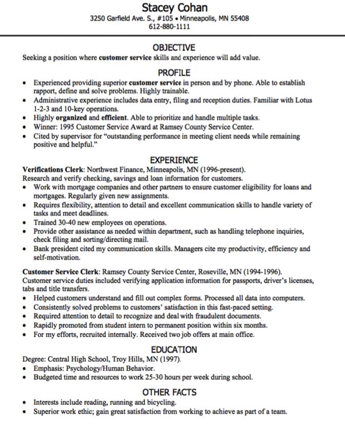 Customer Service Resume Sample  HttpExampleresumecvOrg
