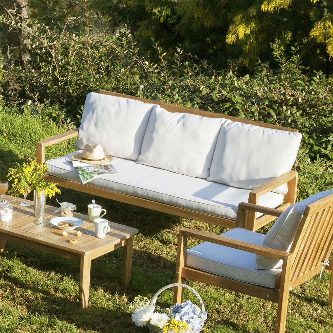 Salon de jardin 5 places CARTULI GreenPath prix Salon de jardin ...