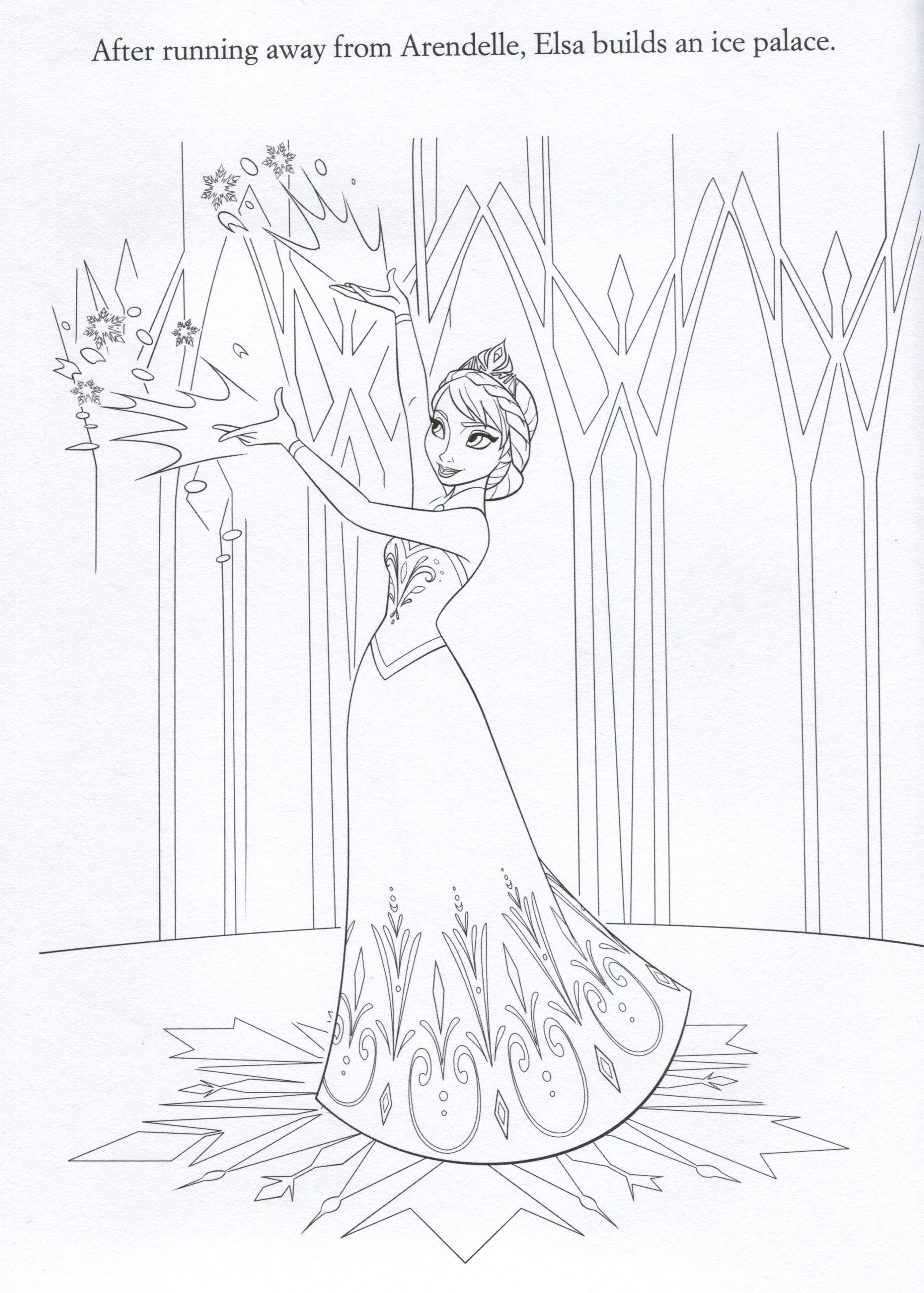 Official Frozen Illustrations Coloring Pages Frozen Coloring