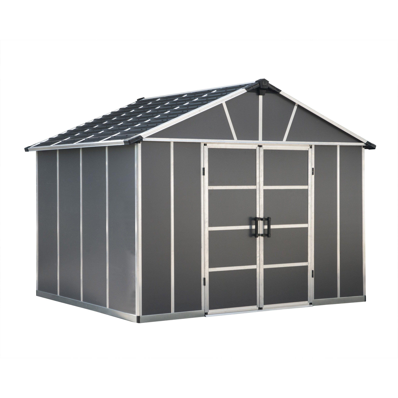 Abri De Jardin Composite abri de jardin palram yukon, 7.9m² | abri de jardin, abri de