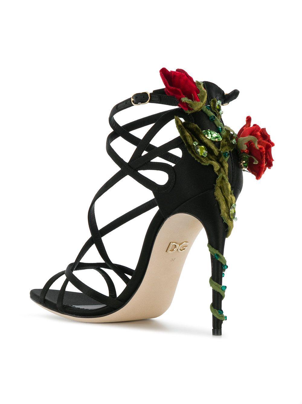 Jewel Keira heeled sandals - Black Dolce & Gabbana dDaJO28