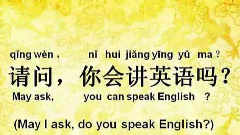 """Learn Chinese, Learn Chinese language and how to speak Mandarin. This lesson teaches you how to speak """"May I ask, Can you speak English?"""" in Chinese. so have fun watching it and master the sentence!"""