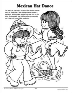 Mexican Hat Dance Coloring Page Elements Of Dance Mexican Hat