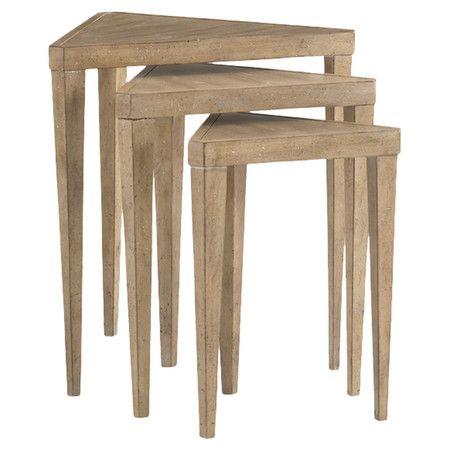 Lexington Monterey Nesting Table // distinctive triangular shape #productdesign #furnituredesign