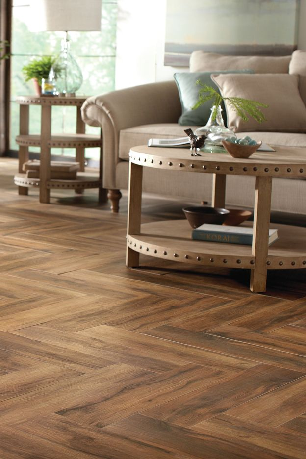 MSI Botanica Cashew 6 in. x 24 in. Glazed Porcelain Floor and Wall ...