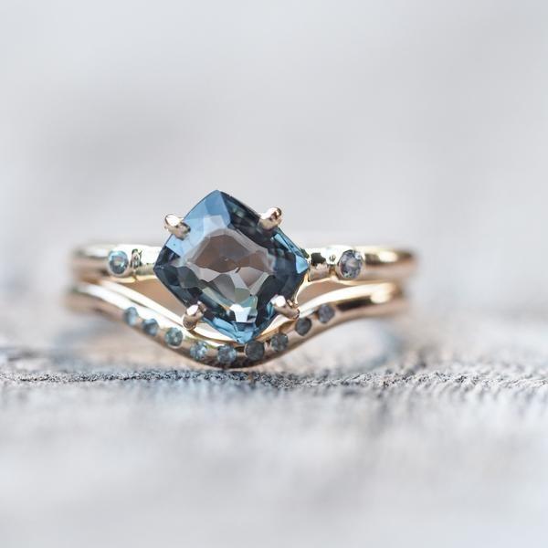 Spinel Alternative Bridal Ring Set The proposal was was kept