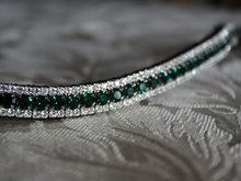 Crystal bling browband in emerald stones.
