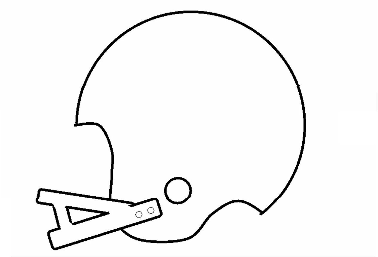 Football Stencil for kids crafts #UltimateTailgate #