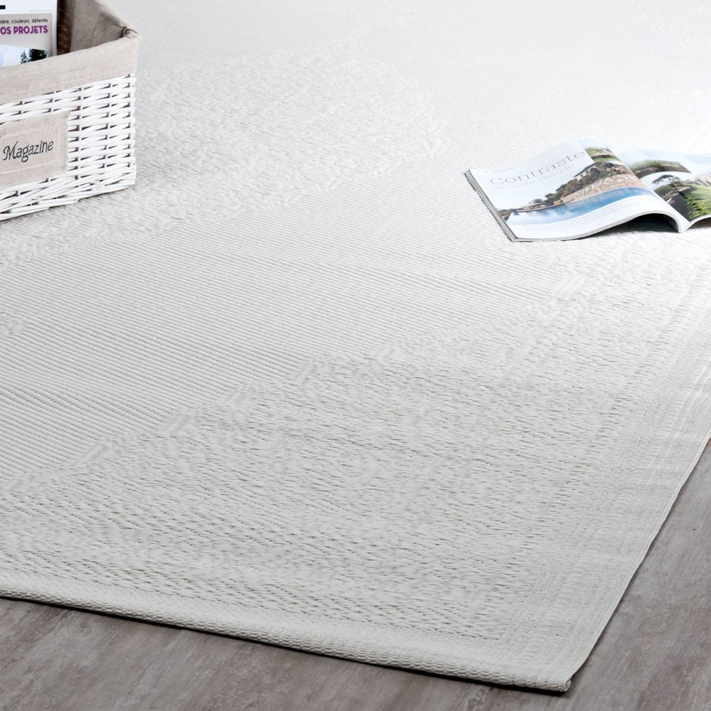 Webteppich Ibiza Polypropylene Outdoor Rug In White 180x270 Desks In 2019