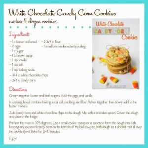 White Chocolate Candy Corn Cookies - Cupcake Diaries