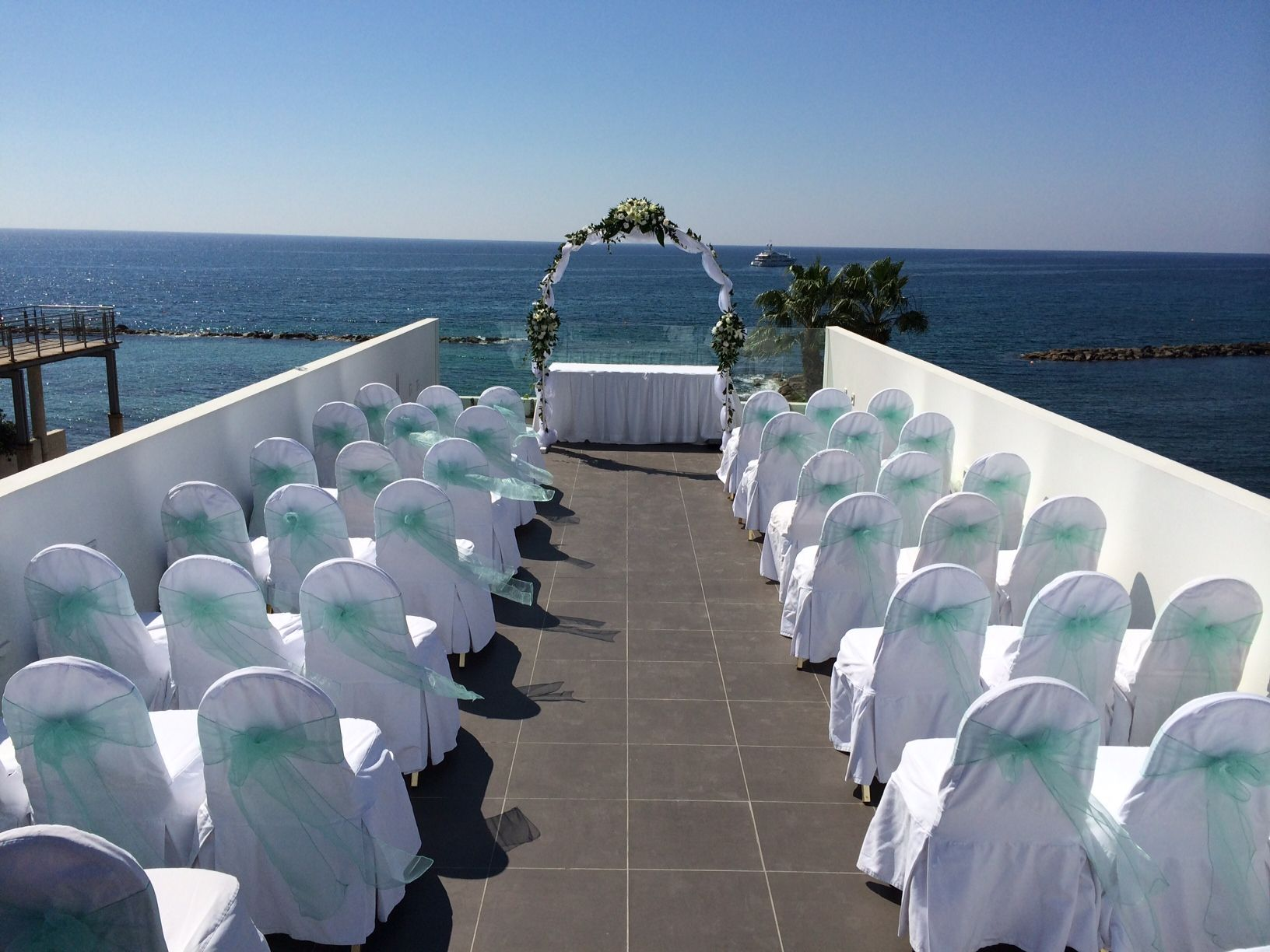 Beautiful View From The Spa Roof Terrace At The Almyra Hotel Paphos Hotel Wedding Venues Cyprus Wedding Hotel Wedding