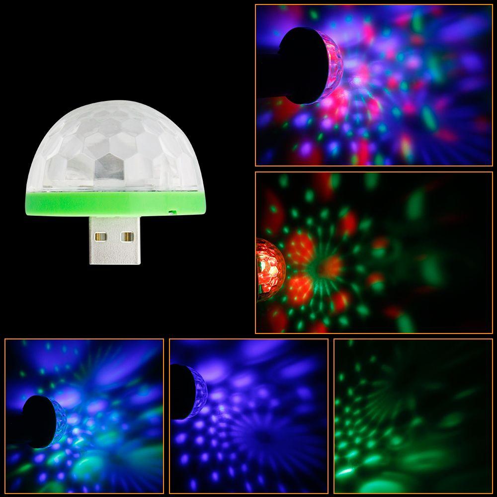 Mini Usb Led Stage Light Dc 5v Portable Rgb Led Crystal Magic Rotating Ball Stage Lights For Home Entertai Mushroom Lights Party Lights Decoration Party Lights
