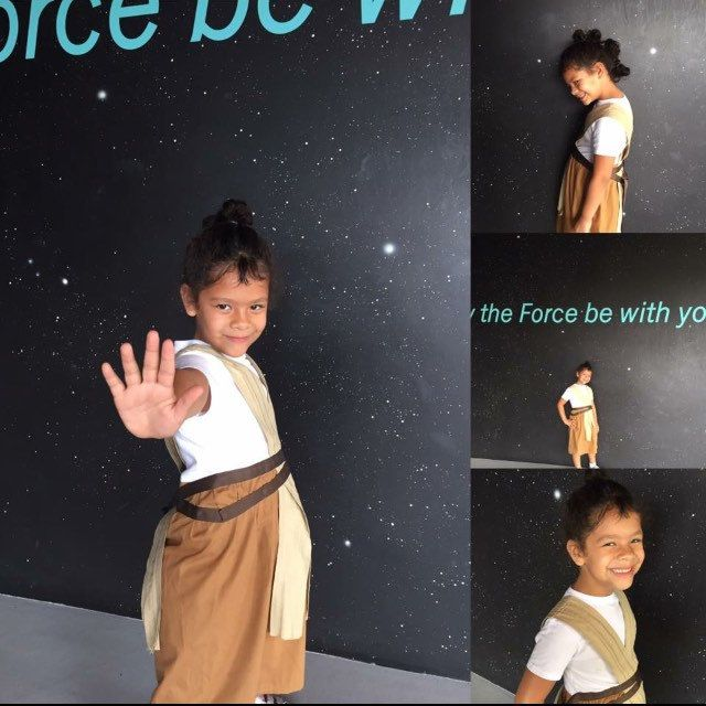 The Season of the Force is way more fun when you get to dress up like Rey and wear her famous hairdo!