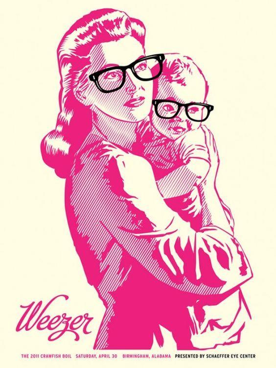 Weezer Gig Poster