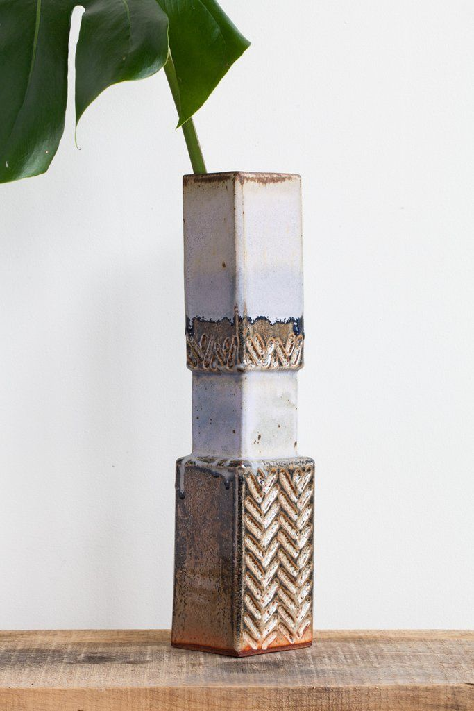 BZIPPY Brutalist Shino Ceramic Vase