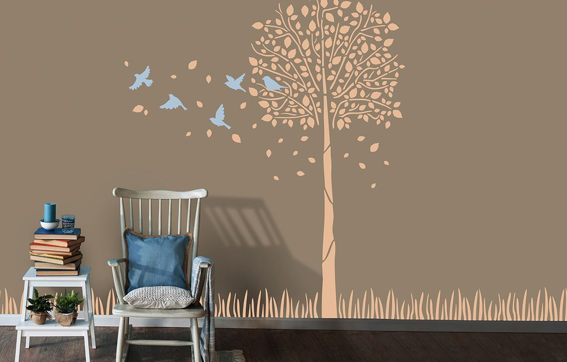 Designer Range Of Wall Painting Stencils For Your Home Asian Paints Wall Paint Designs Wall Design Asian Paints