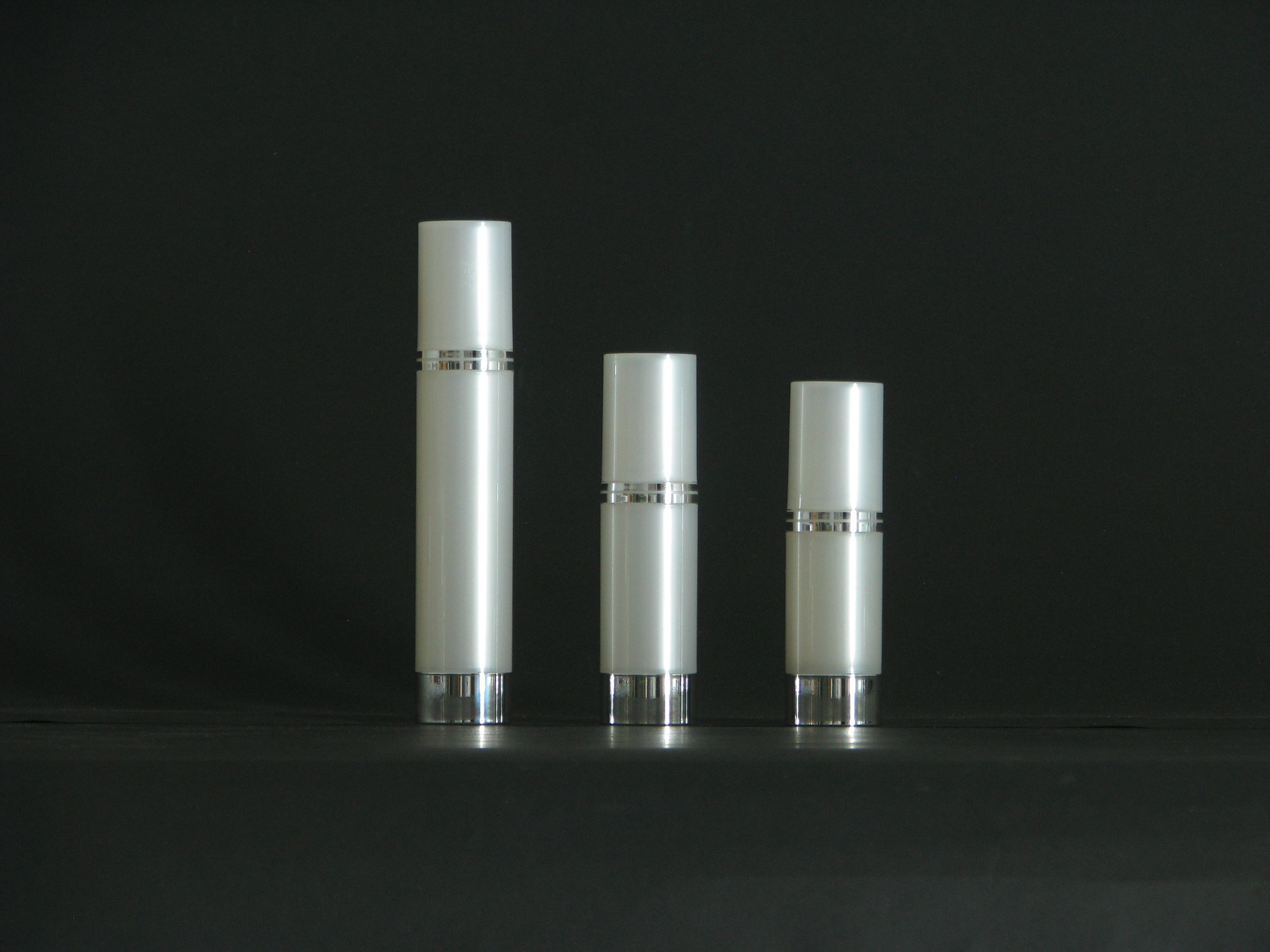 15ml50ml PP pearl white body with silver bottom bottle