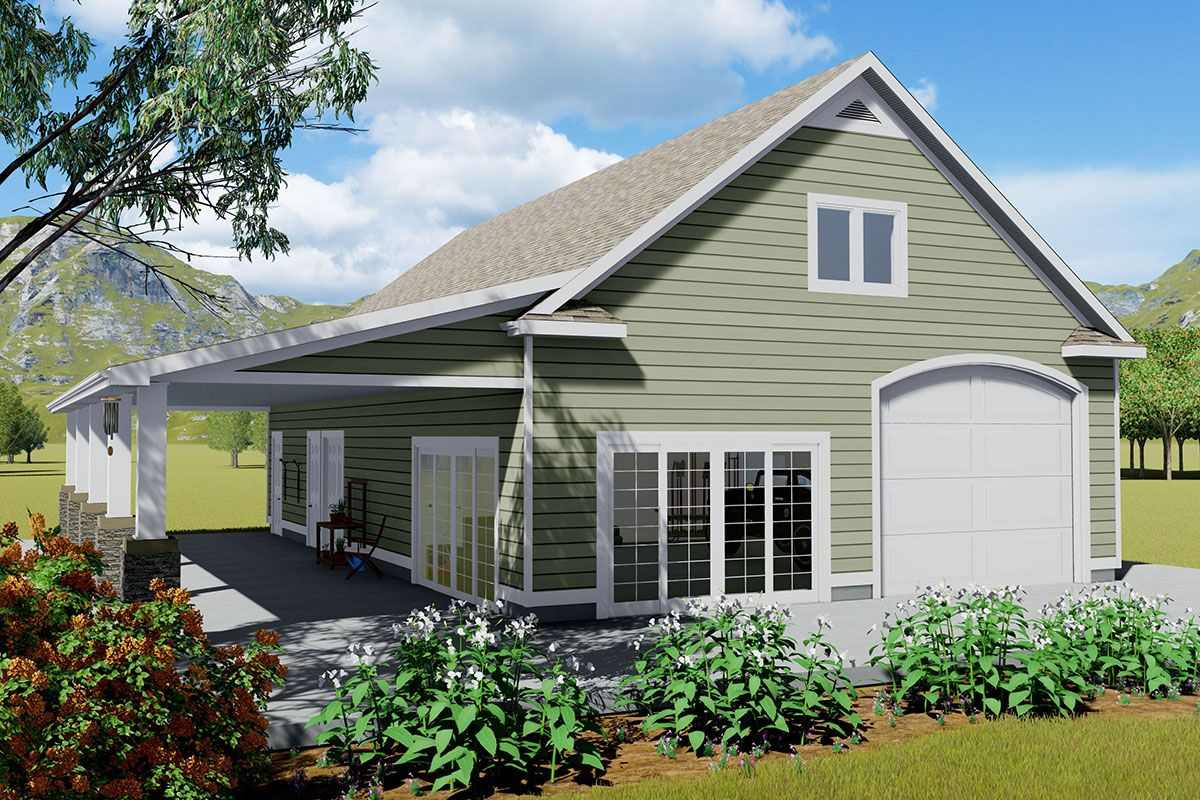Plan 61319ut Country Carriage House Plan With Porch And Bed Or Bonus Room In 2021 Carriage House Plans Porch House Plans Garage Plans With Loft