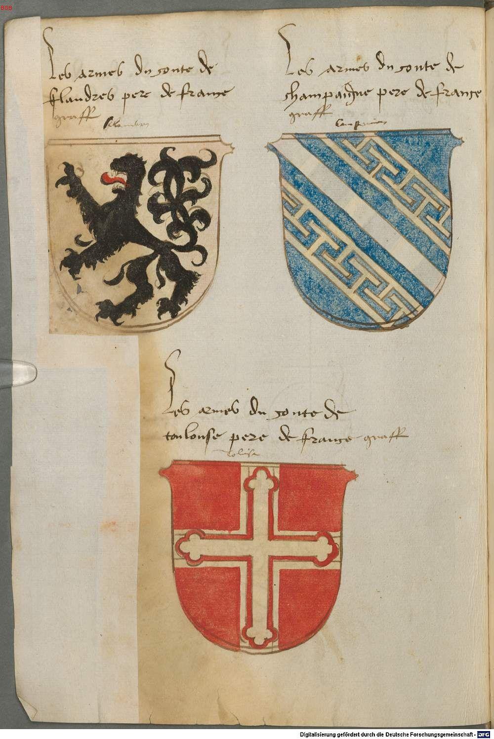 Tirol, Anton: Wappenbuch Süddeutschland, Ende 15. Jh. - 1540 Cod.icon. 310  Folio 48v