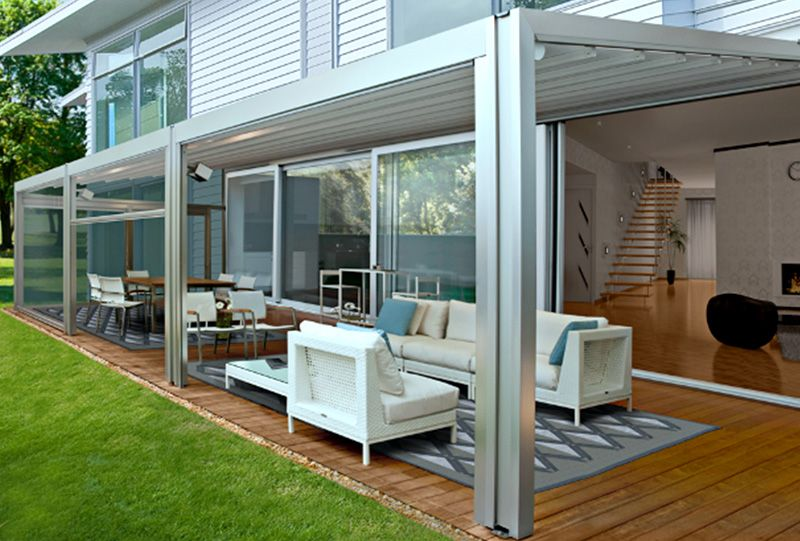 Attrayant Residential Waterproof Retractable Roof Patio Awning 6.