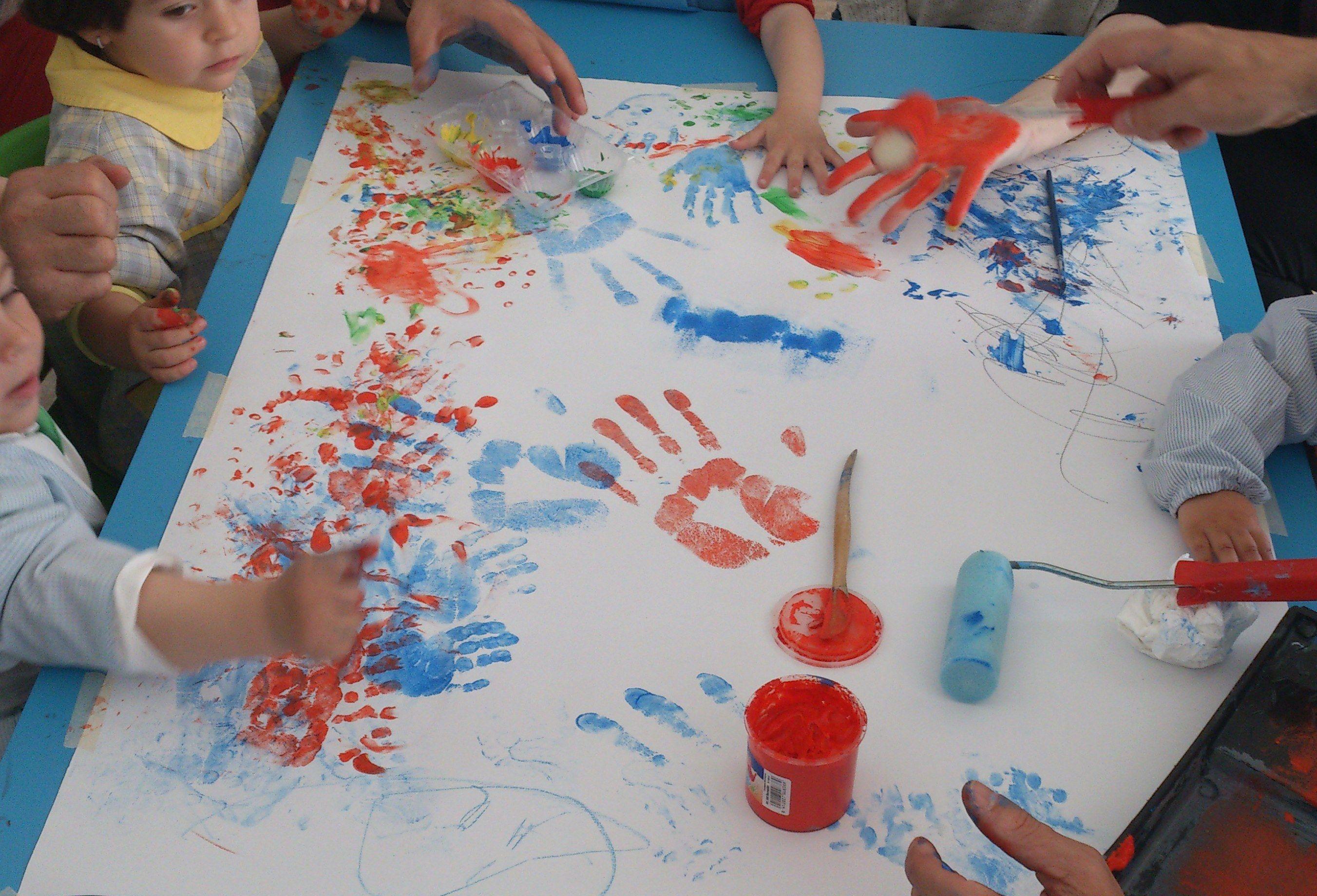 Taller de pintura para niños de 2 a 3 años. | Pinturas para niñas ...