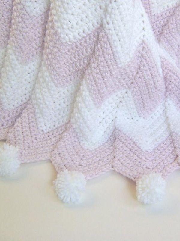 Pink Champagne Baby Blanket Crochet Pattern | Pinterest | Manta