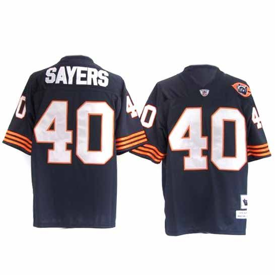 the latest 56a5e 72e02 Sayers Jersey, Throwback #40 Chicago Bears Authentic NFL ...