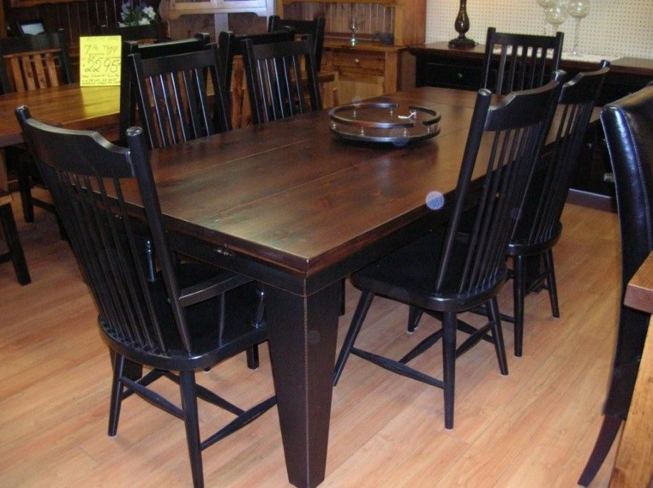 Dark Wood Dining Room Chairs Pleasing Rustic Dining Table With Black Chairs Wooden Ashtray ~ Dickoatts Decorating Design