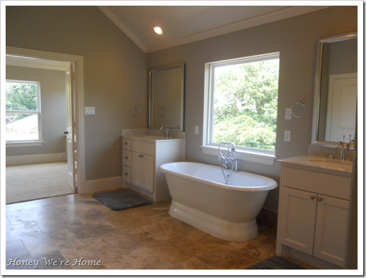 Paint: Anew Gray by Sherwin Williams | Master Bathroom Redo | Pinterest